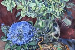 Далевски Татьяна.  Февральский бык.     б., акварель, 34х52